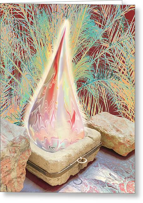 The Manger Is Empty But The Light Still Shines Greeting Card by Jennifer Kathleen Phillips