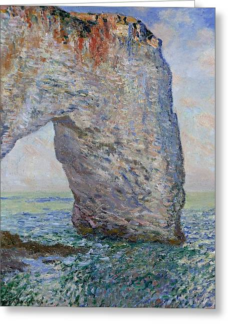 New York The Metropolitan Museum Of Art Greeting Cards - The Manneporte near Etretat Greeting Card by Claude Monet