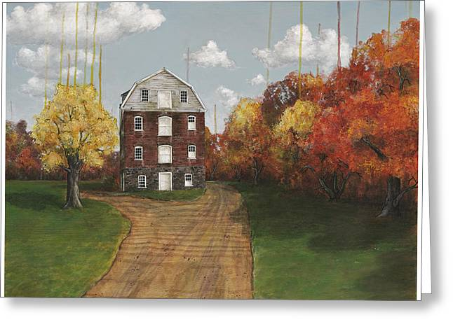 Drip Greeting Cards - The Manor Greeting Card by Richardson Comly