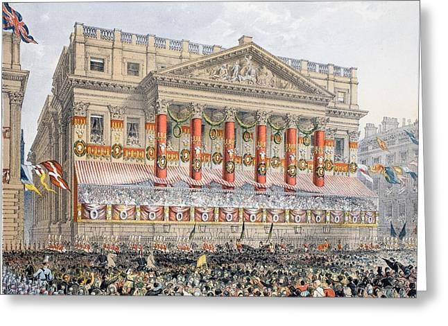 Royalty Greeting Cards - The Mansion House, 7th March, 1863 Greeting Card by English School