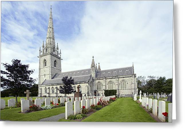 Spyres Greeting Cards - The Marble Church Greeting Card by Ian Kydd Miller