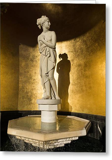Greek Sculpture Greeting Cards - The Marble Lady and Her Shadow Greeting Card by Georgia Mizuleva