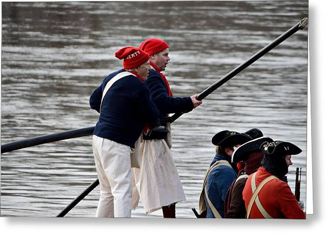 Battle Of Trenton Greeting Cards - The Marbleheaders Greeting Card by Steven Richman