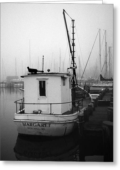 Working Boats Greeting Cards - The Margaret Greeting Card by Skip Willits