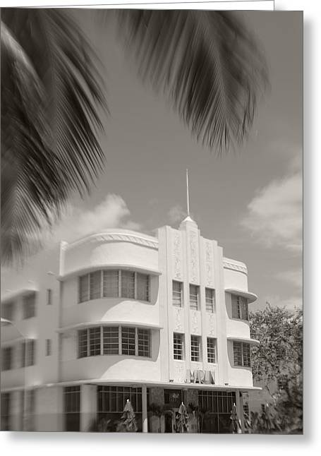 Black Marlin Greeting Cards - The Marlin Hotel Greeting Card by Robert Klemm