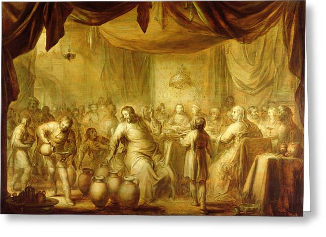 Feasting Greeting Cards - The Marriage At Cana Greeting Card by Adriaen Pietersz. van de Venne