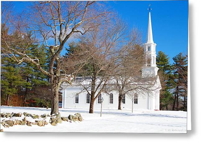 Sudbury Ma Greeting Cards - The Martha Mary Chapel Greeting Card by Roberto De Souza