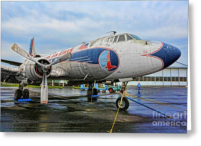 Eastern Air Lines Greeting Cards - The Martin 404 - Eastern Airlines Greeting Card by Lee Dos Santos