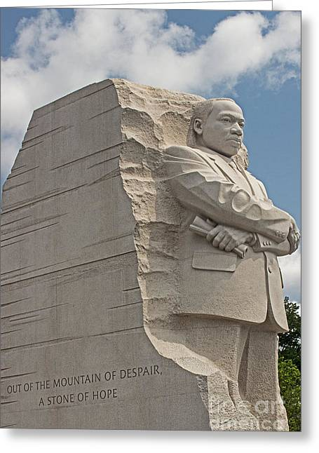 Civil Rights Greeting Cards - The Martin Luther King Jr Memorial  Greeting Card by Tom Gari Gallery-Three-Photography