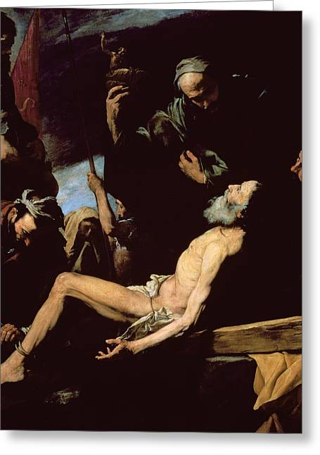 1628 Greeting Cards - The Martyrdom of Saint Andrew Greeting Card by Jusepe de Ribera
