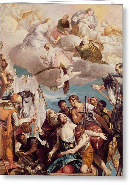 Martyr Greeting Cards - The Martyrdom Of St. George Oil On Canvas Greeting Card by Veronese
