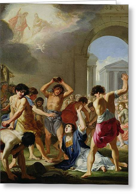 Stones Greeting Cards - The Martyrdom Of St. Stephen, C.1623 Greeting Card by Jacques Stella