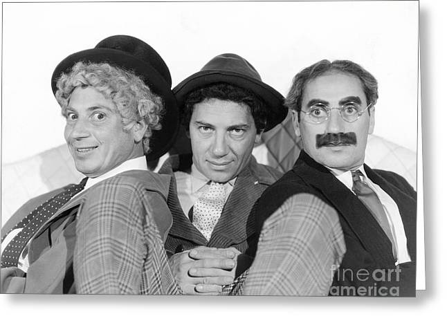 Marx Brothers Greeting Cards - The Marx Brothers Greeting Card by MMG Archives