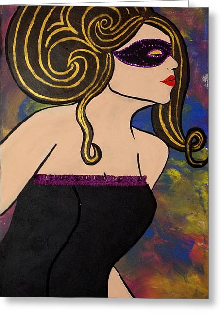 Updo Greeting Cards - The Mask I Wear Greeting Card by Melanie Hamm