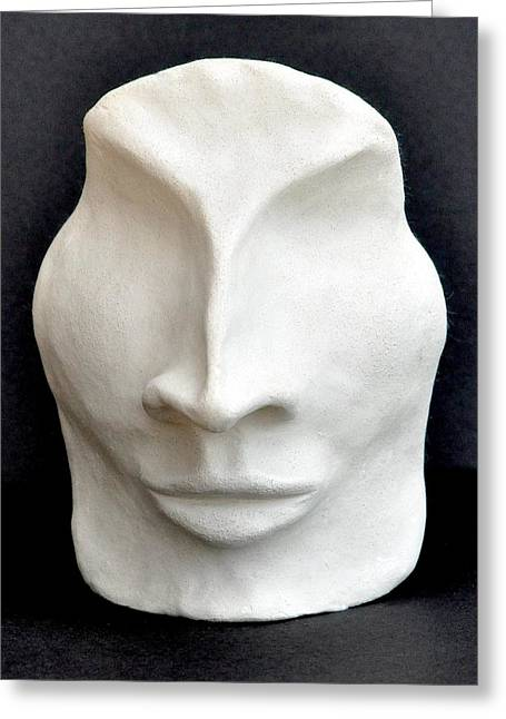 Cover The Face Greeting Cards - The Mask Greeting Card by Marianna Mills