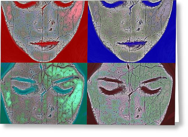 Artist Photographs Greeting Cards - The Mask Greeting Card by Stylianos Kleanthous
