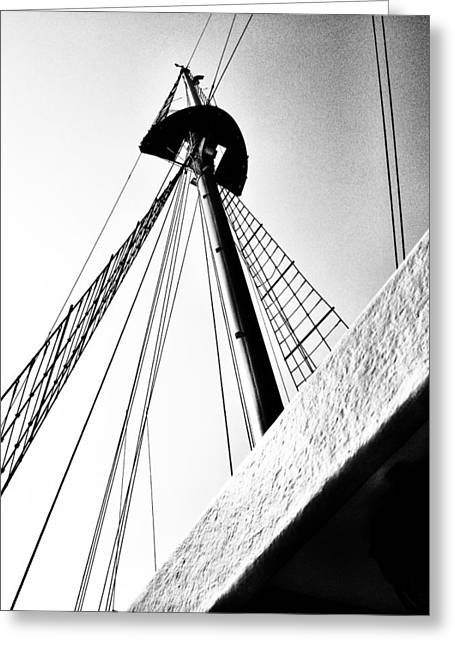 Tall Ships Greeting Cards - The Mast of the Peacemaker Greeting Card by Natasha Marco