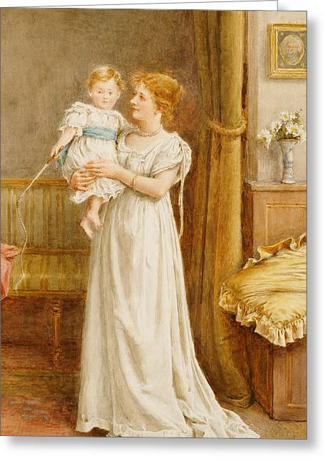 Prejudice Greeting Cards - The Master of the House Greeting Card by George Goodwin Kilburne