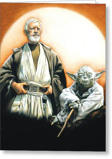 Star Greeting Cards - The Masters Greeting Card by Edward Draganski