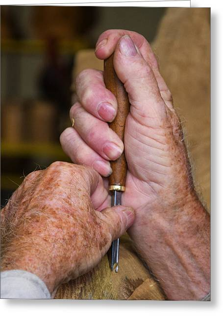 Elderly Hands Greeting Cards - The Masters Hands Greeting Card by Chris Flees