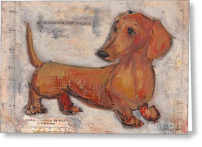Doxie Greeting Cards - The Math Behind the Myth Greeting Card by Robin Wiesneth