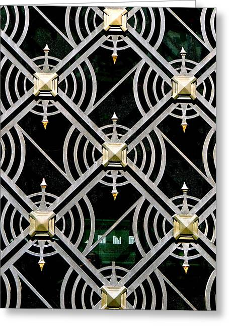 Grillwork Greeting Cards - The Matrix Greeting Card by Ira Shander