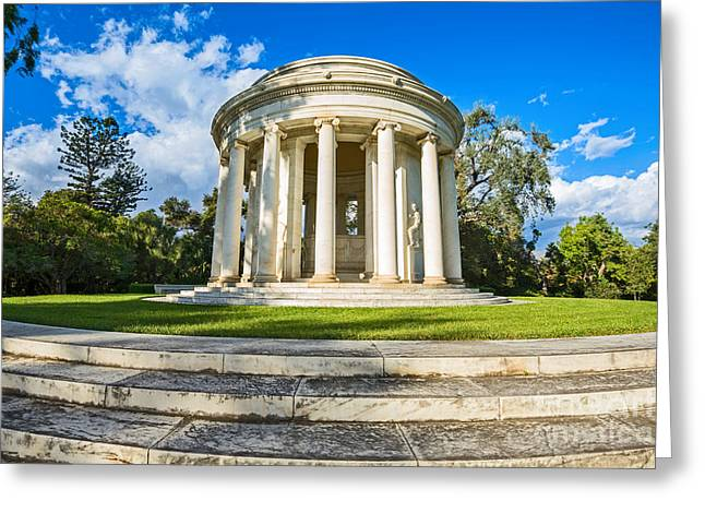 Greek Temple Greeting Cards - The Mausoleum - of Henry and Arabella Huntington. Greeting Card by Jamie Pham
