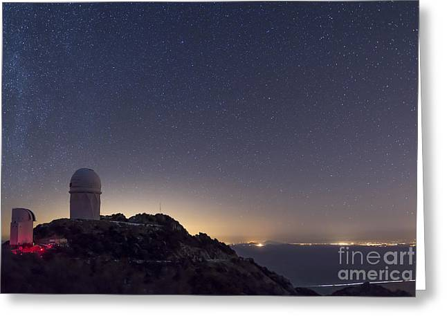 Quinlan Greeting Cards - The Mayall Observatory At Kitt Peak Greeting Card by John Davis