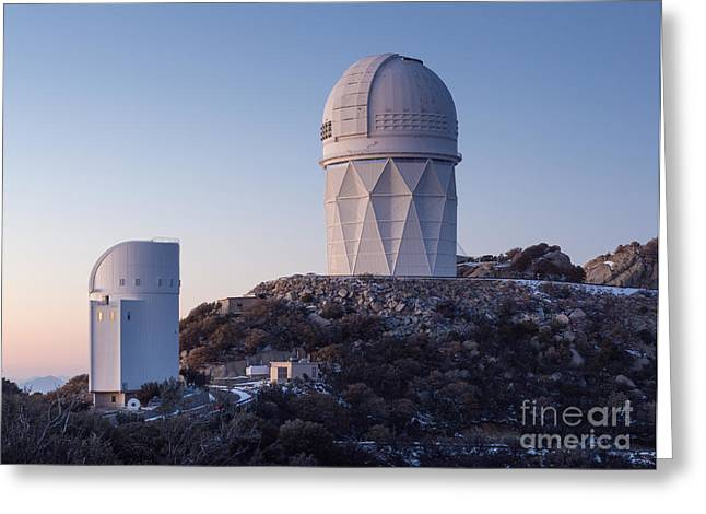 Quinlan Greeting Cards - The Mayall Observatory Sits Atop Kitt Greeting Card by John Davis