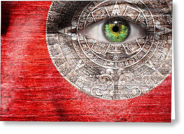 End Of War Greeting Cards - The Mayan Eye Greeting Card by Semmick Photo