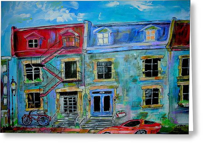 Michael Litvack Greeting Cards - The McGill Ghetto Greeting Card by Michael Litvack