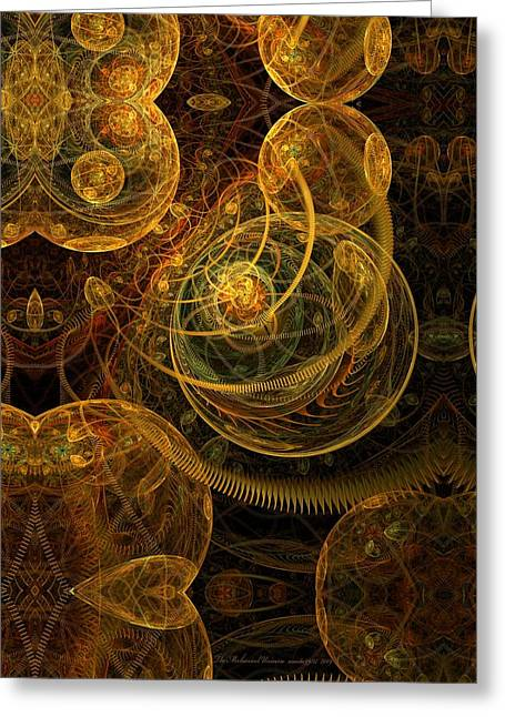 Flames Pastels Greeting Cards - The Mechanical Universe Greeting Card by Gayle Odsather