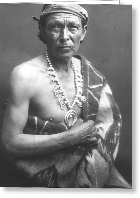Textile Photographs Greeting Cards - The Medicine Man Greeting Card by William J Carpenter