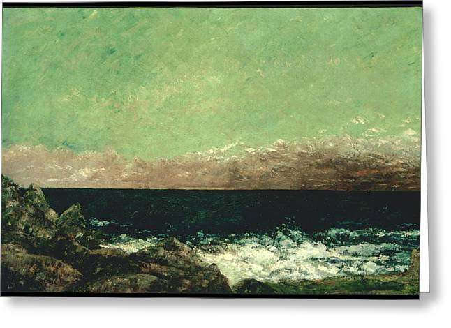 Gustave Courbet Greeting Cards - The Mediterranean Greeting Card by Gustave Courbet