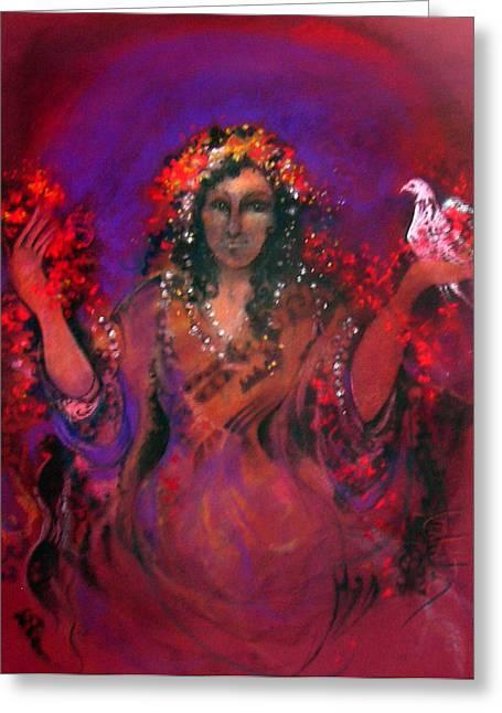 Robe Pastels Greeting Cards - The Medium Greeting Card by Josie Taglienti