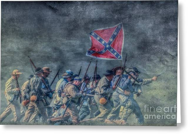 Soldiers From The Civil War Greeting Cards - The Men From Old Virginia Greeting Card by Randy Steele
