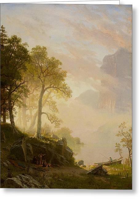 Californian Greeting Cards - The Merced River in Yosemite Greeting Card by Albert Bierstadt
