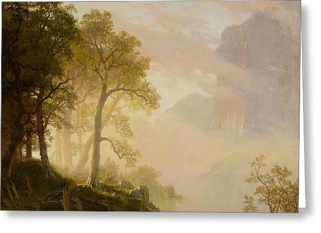 The Merced River in Yosemite Greeting Card by Albert Bierstadt
