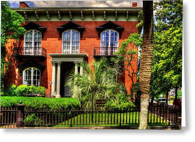 Evil House Greeting Cards - The Mercer Williams House Greeting Card by Greg Mimbs