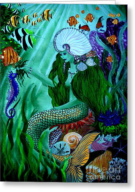 Under The Sea Mermaid Greeting Cards - The Mermaid Greeting Card by Sylvie Heasman