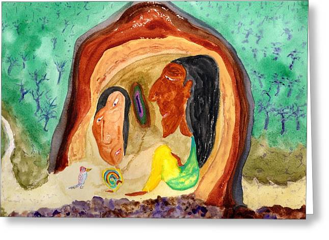 Indigenous Meeting Greeting Cards - The Messenger Greeting Card by Jim Taylor