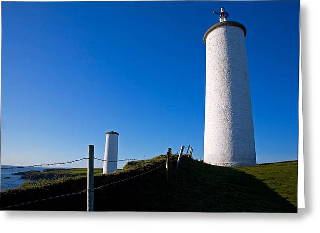 Civil Greeting Cards - The Metal Man Shipping Beacon, Great Greeting Card by Panoramic Images