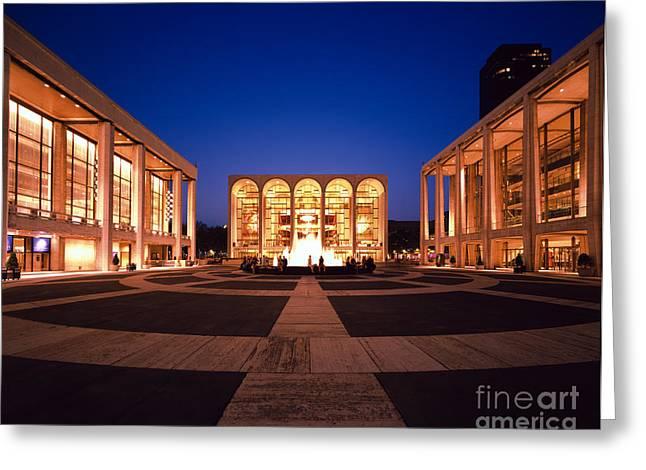 Lincoln Center Greeting Cards - The Metropolitan Opera House Greeting Card by Rafael Macia