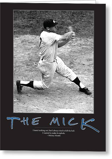 Mickey Mantle Greeting Cards - The Mick Mickey Mantle Greeting Card by Retro Images Archive