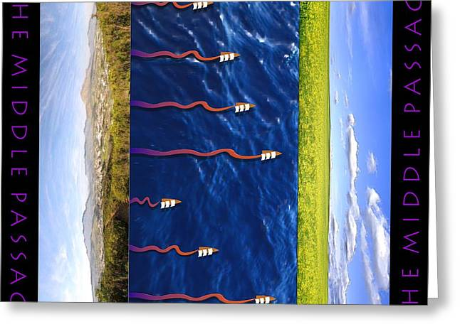 Slavery Digital Greeting Cards - The Middle Passage 2 Greeting Card by Walter Oliver Neal