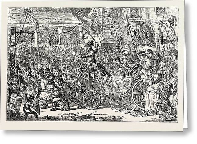 The Middlesex Election, Scene At The Brentford Hustings Greeting Card by English School