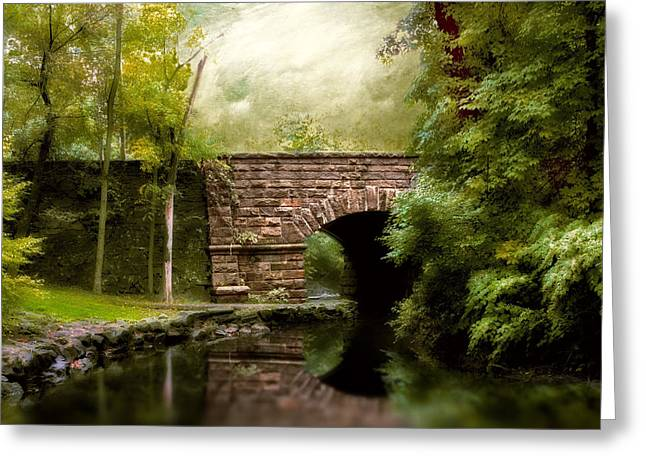 Stone Bridge Greeting Cards - The Midland Bridge Greeting Card by Jessica Jenney
