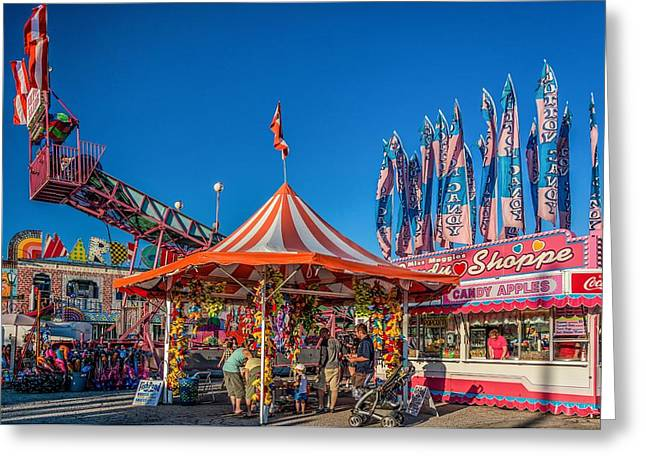 Slide Prints Greeting Cards - The Midway 4 Greeting Card by Steve Harrington