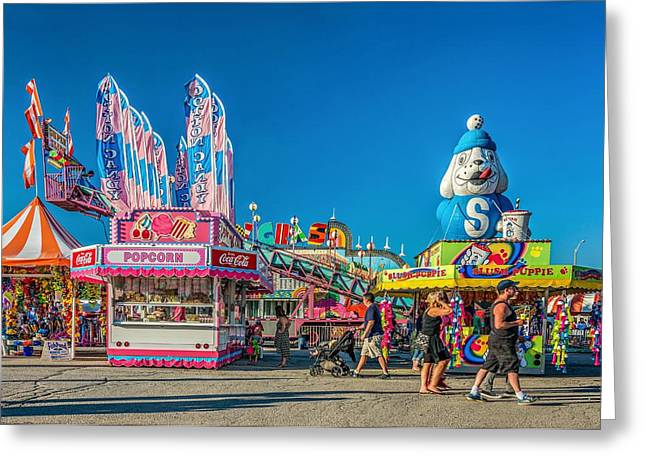 Slide Prints Greeting Cards - The Midway Greeting Card by Steve Harrington