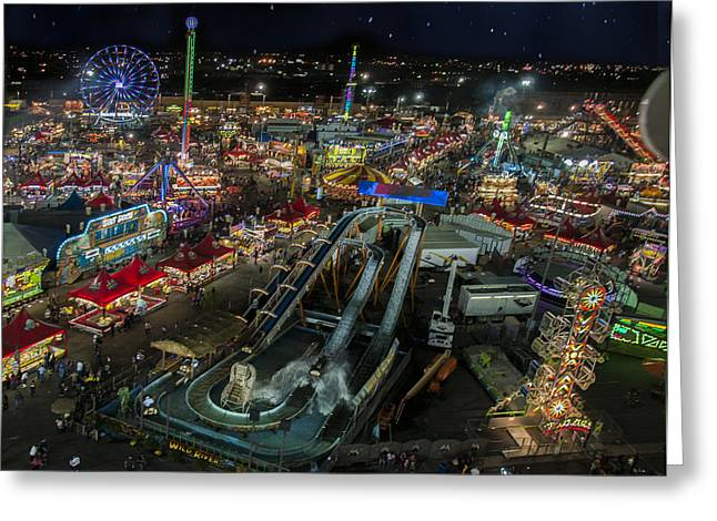 Arizona State Fair Greeting Cards - The Midway Greeting Card by Van Allen Photography